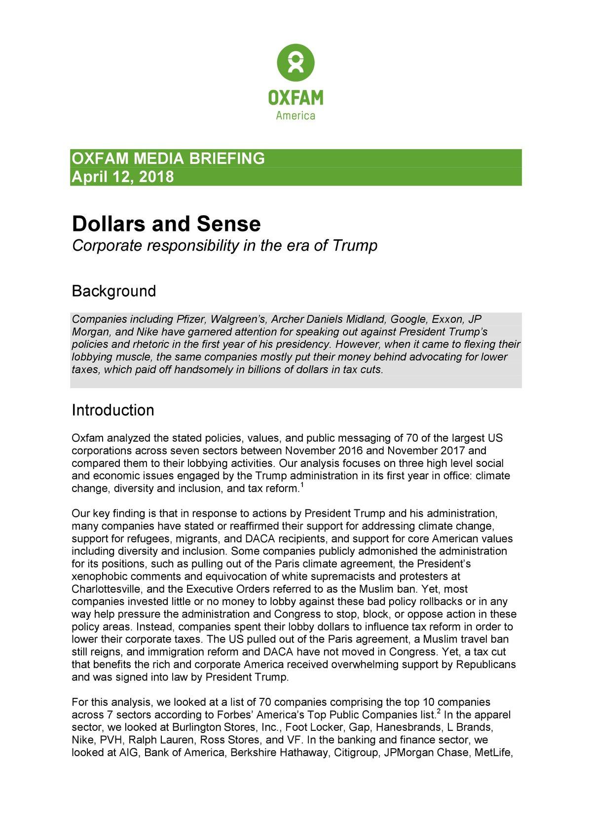 Dollars and Sense | Oxfam