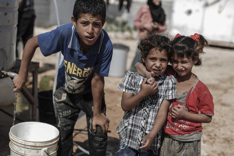 refugee children Syria